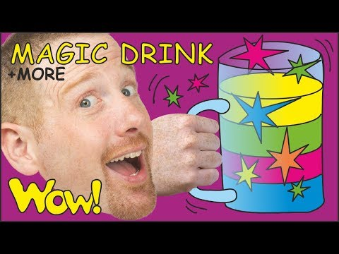 Magic Drink Stories for Kids + MORE | Learn English Steve and Maggie | Story Time Wow English TV