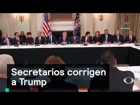 Secretarios corrigen a Trump - Trump - Denise...