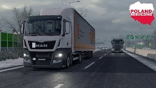 ETS2 1.30 - Poland Rebuilding in Winter - ProMods 2.25 - Low Deck MAN Euro 6 - Realistic Graphics