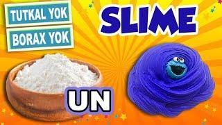 TUTKALSIZ BORAKSSIZ KOLAY SLIME - SLAYM - UN ile Slime Nasıl Yapılır - HOPPİ TV