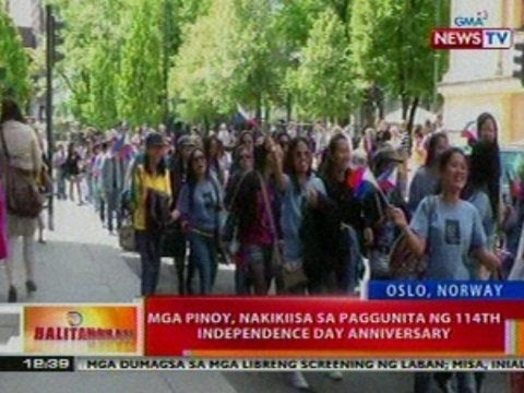 BT: Mga pinoy sa Oslo, Norway, nakiisa sa paggunita ng 114th Independence Day anniversary