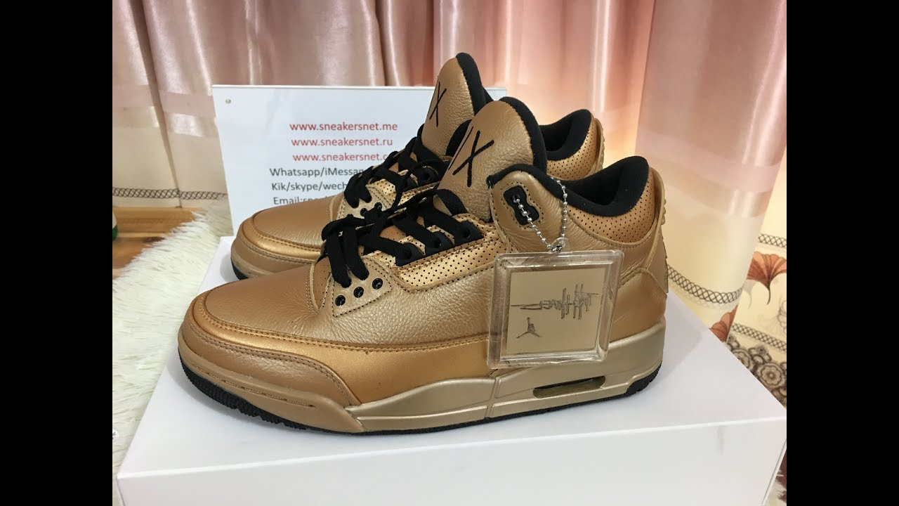 7e652c12746969 Drake OVO x Air Jordan 3 Gold Black 6IX from sneakersnet.me. Best kicks