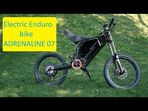видео: Мощный электровелосипед 250км 75км/ч. Как мотоцикл. enduro bike adrenaline07