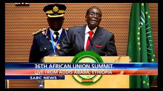 au chair robert mugabe address 26th au summit