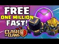 Clash Of Clans FREE LOOT STRATEGY NO GLITCH HACK | OVER 1 MILLION GOLD AND DARK ELIXIR FARMING