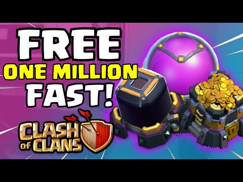Clash Of Clans FREE LOOT STRATEGY NO GLITCH HACK   OVER 1 MILLION GOLD AND DARK ELIXIR FARMING