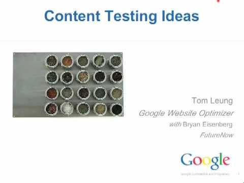 Phone Webinar: Website Optimizer, What Should I Test?
