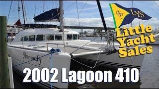 SOLD!!! 2002 Lagoon 410 Catamaran Sailboat for Sale at Little Yacht Sales