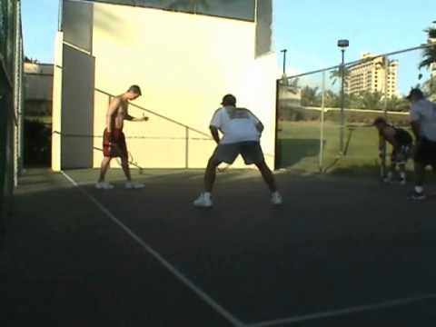 OUTDOOR RACQUETBALL FORT DERUSSY WAIKIKI 2007 PRO BOWL FINAL PART 2