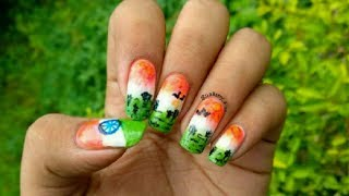 Independence day special nail art🇮🇳