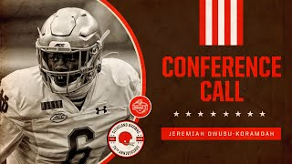 Jeremiah Owusu-Koramoah Conference Call | Cleveland Browns