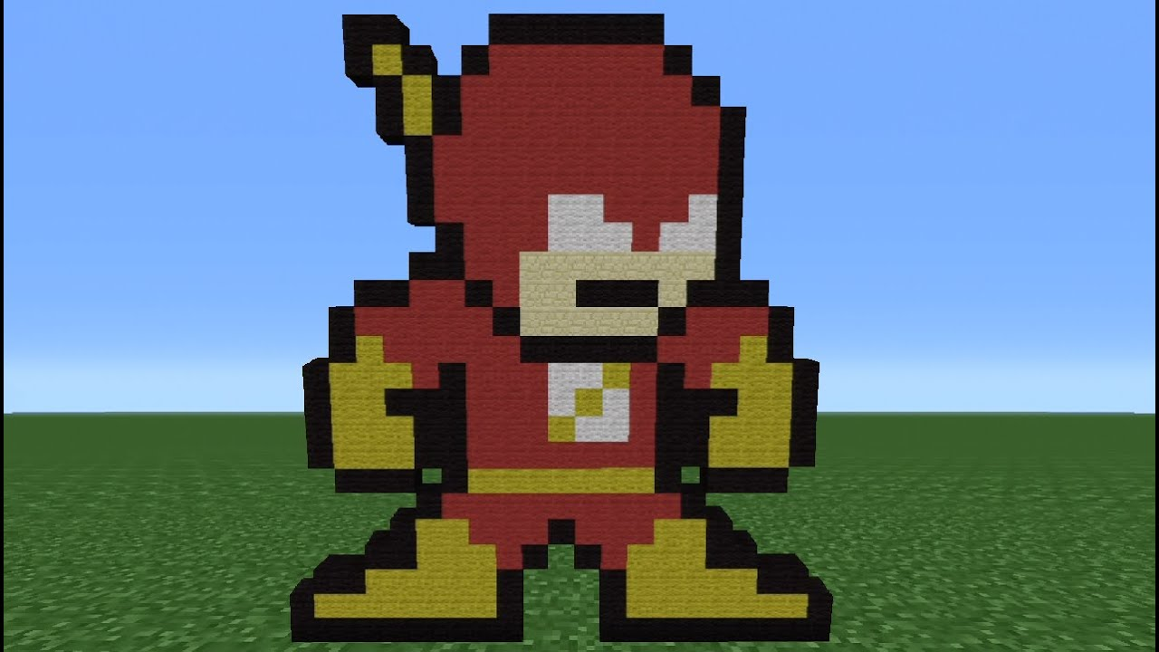 Minecraft Tutorial: How To Make The Flash (8-Bit) - YouTube