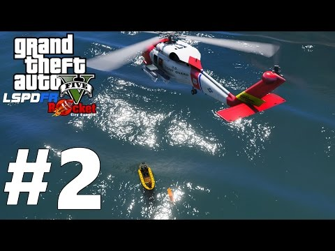Nice Dinghy! | Coast Guard Helicopter Rescue at Sea | GTA 5 LSPDFR (Coastal Callouts Beta) #2