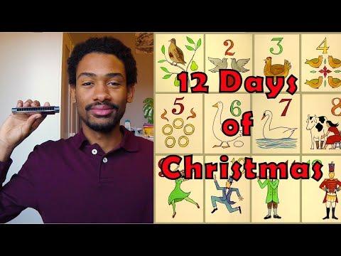 [Harmonica] Twelve Days Of Christmas | Christmas Songs + TABS
