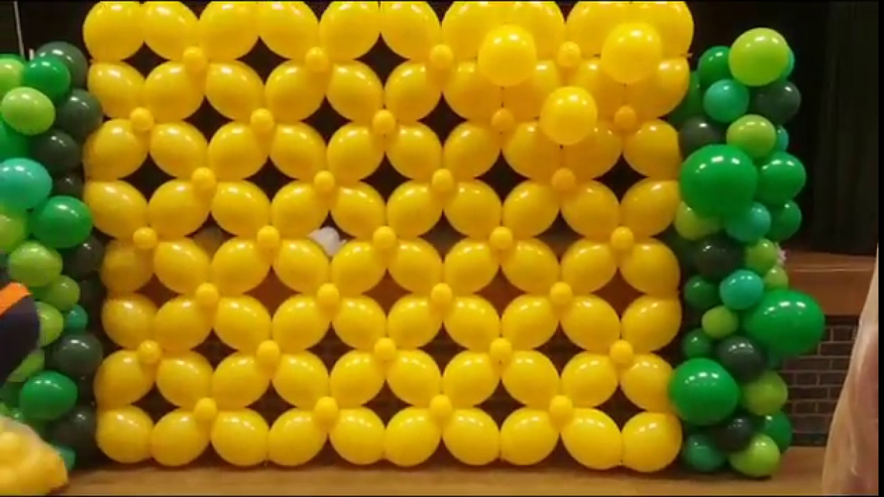 How to do a Quicklink Balloon wall.(Balloon Wall) - YouTube