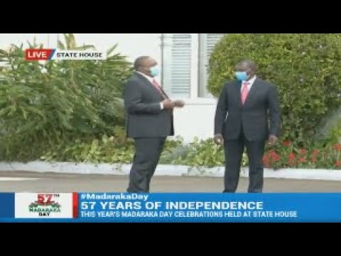 President Uhuru's Light Moments With DP Ruto After Madaraka Day Event At State House