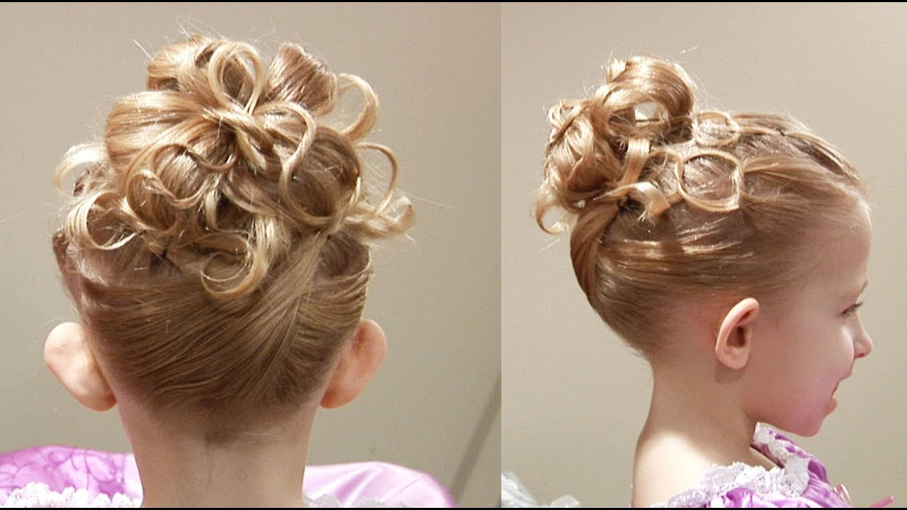 cute chain updo princess hairstyle