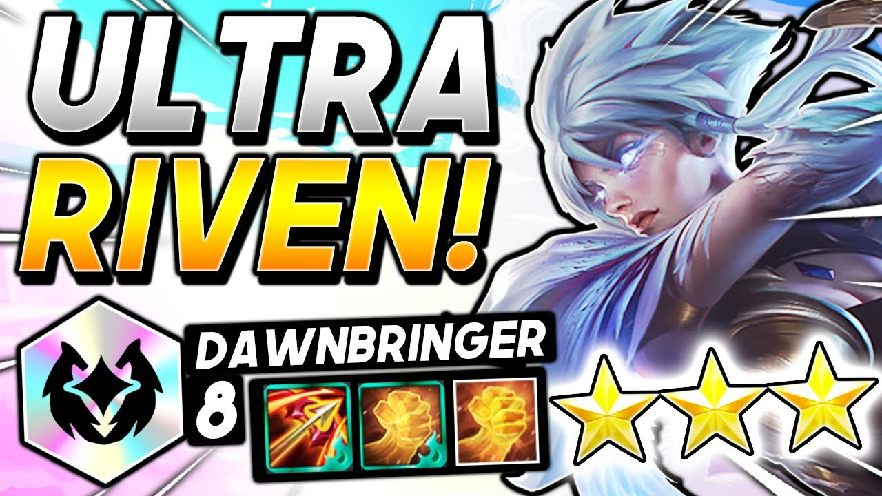 *RIVEN ⭐⭐⭐ 8 DAWNS OP!* - TFT SET 5 BEST Ranked Comp I Teamfight Tactics Strategy Guide 11.12 Patch