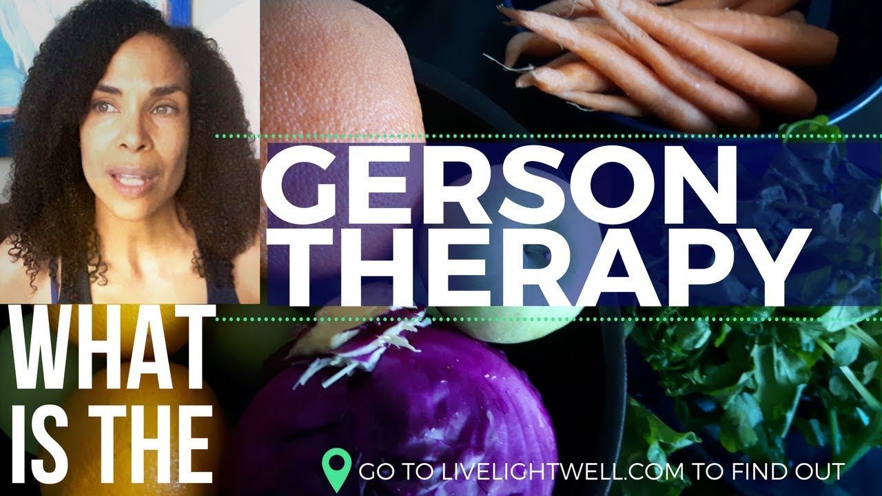 What Is The Gerson Therapy? JUICING AND COFFE ENEMA VEGETARIAN LEVITY