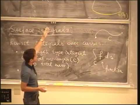 Lecture 22. Surface Integrals - MATH 53: Multivariable Calculus with Edward Frenkel