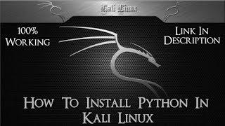 Install Python in kali Linux! Easy Method, 2018