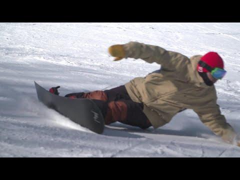 카빙의 교과서!! 급사 8분 슬로우! Freestyle Snowboard Advanced Carving