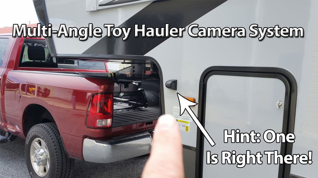 Elevation Toy Hauler Camera Upgrades Integrated Into A