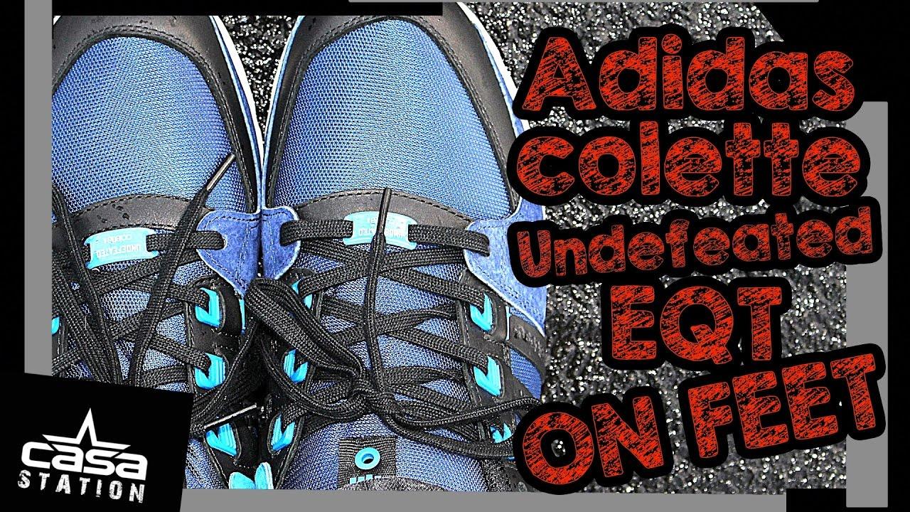 9 sobre pies Adidas Consortium x Undefeated x Colette hombres EQT