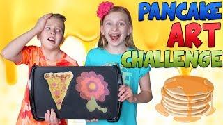 Pancake Art Challenge vs My Sister