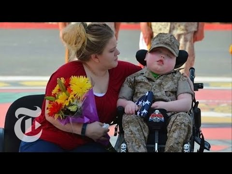 Ill Child Becomes Marine Before Dying | The New York Times