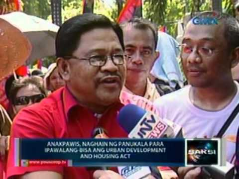 Download Youtube: Saksi: Pagpapawalang-bisa sa Urban Development and Housing Act., iginiit ng mga militante (032312)