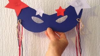 Make A 4th Of July Eye Mask - Diy Crafts - Guidecentral
