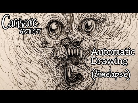 drawing/music-video:-snarling-phantom-beast