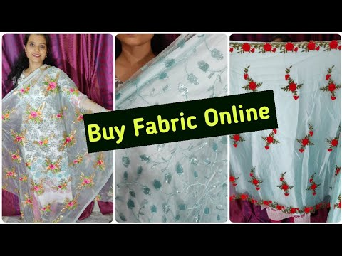 Buy Net,Orgenza n Thread work fabric online.Do WhatsApp on +91-9069954845!! Limited Stock!.