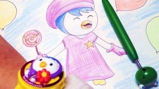 뽀롱뽀롱 뽀로로 - 패티 그리기 Pororo the Little Penguin Patty drawing 라임튜브 LimeTube
