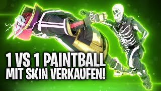 1VS1 PAINTBALL WITH SKIN SELL! 🤑 | Fortnite: Battle Royale