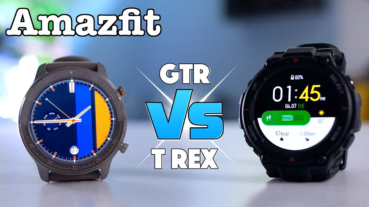 Amazfit T Rex vs GTR - What's the difference?