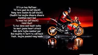 all black raftaar lyrics