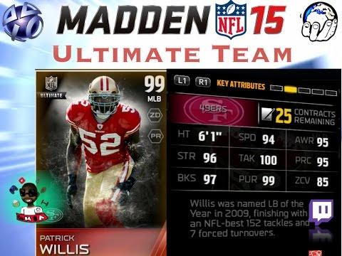 99 OVR PATRICK WILLIS UNLOCKED!!! | Madden Ultimate Team | MUT Gameplay