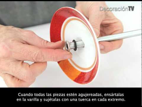 Un pie de porcelana final manualidades youtube - Como hacer lamparas ...
