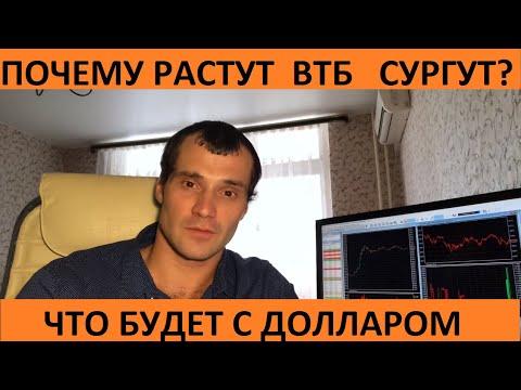 Почему ВТБ и СУРГУТ так сильно растут? Коррекция окончилась на московской бирже? Курс доллара и евро