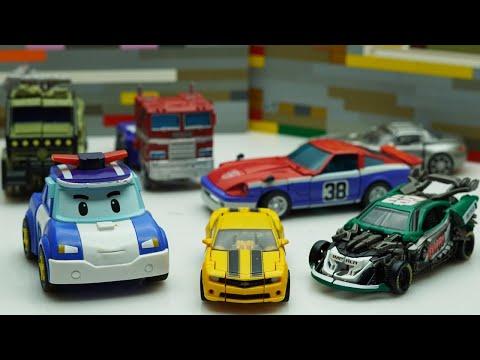 Transformers New Studio Series Roadbuster, Bee, Smokescreen Autobots Stop Motion & Lego City Robbery