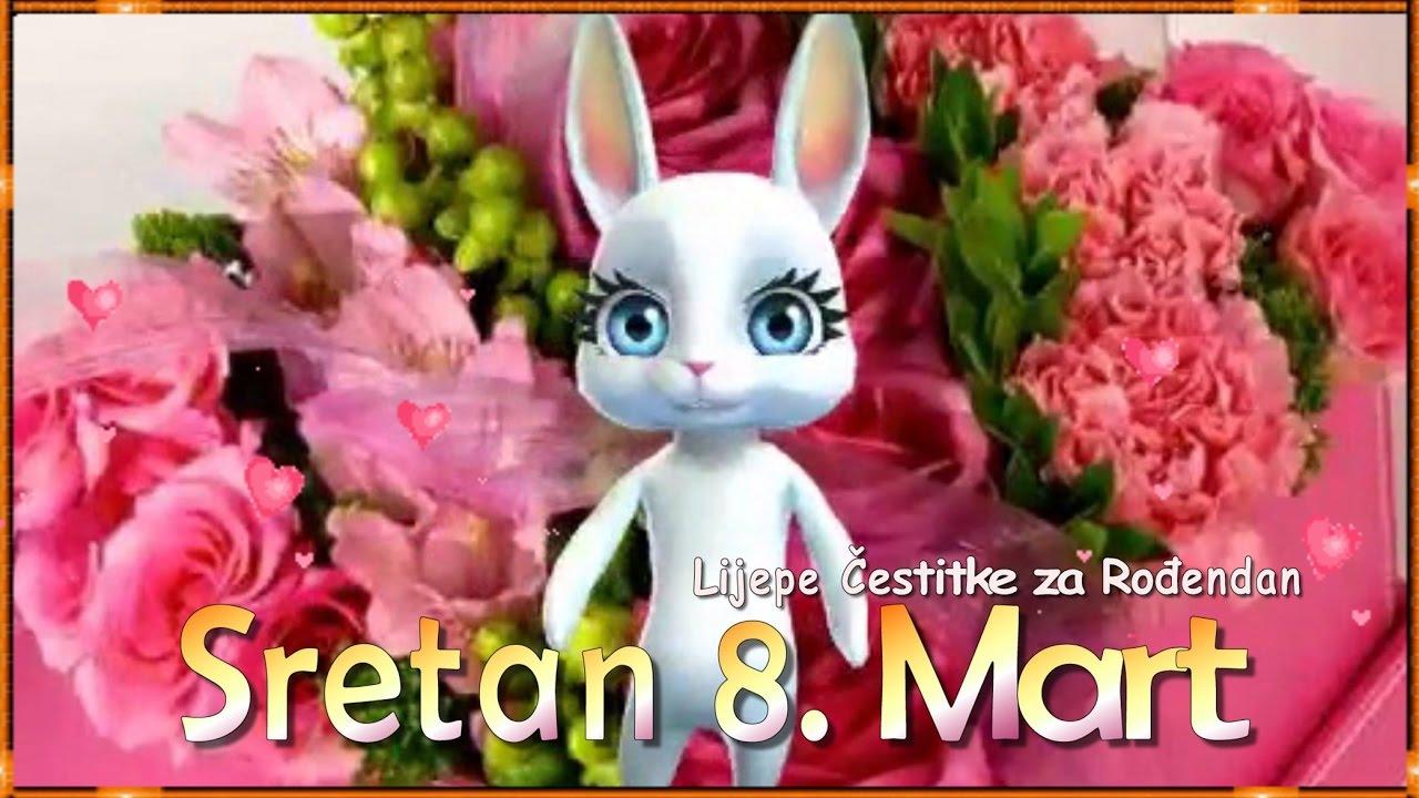 čestitke za 8 mart dan zena SRETAN 8. MART   DAN ŽENA   YouTube čestitke za 8 mart dan zena