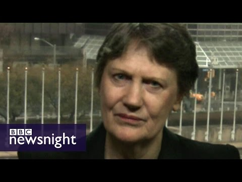 Helen Clark speaks to Newsnight about her candidacy for UN Secretary General