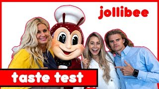 JOLLIBEE USA // American Family TASTE TEST at Jollibee