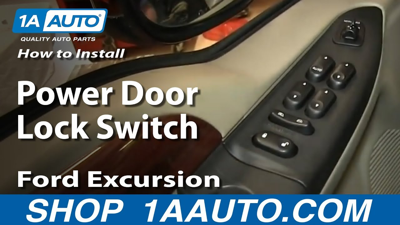 how to install replace power door lock switch ford excursion f250 f350 youtube [ 1920 x 1080 Pixel ]