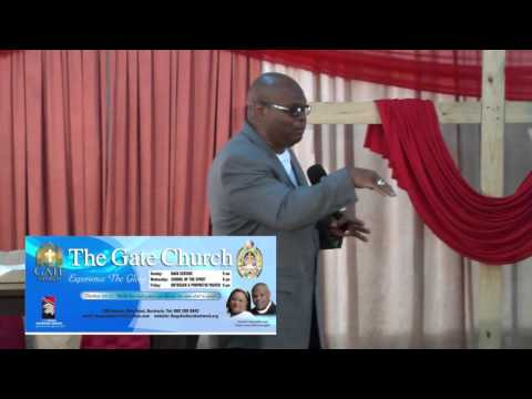 Christopher Douglas Bishop at The gate church network Trinidad and Tobago Message #1