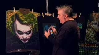 How to Paint on a Black T-Shirt, A FREE STREAM by Gary Worthington