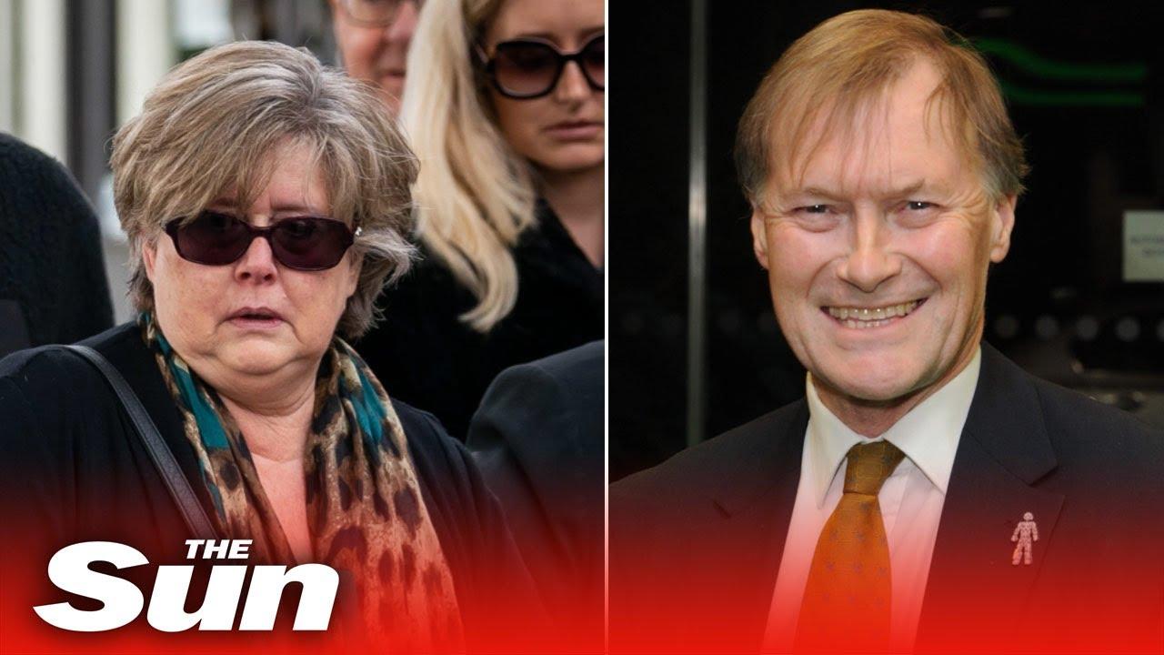 Sir David Amess' distraught wife & daughters visit memorial