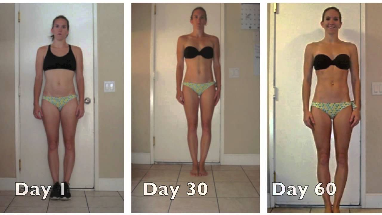 Insanity Women's Results Before and After Insanity Tara